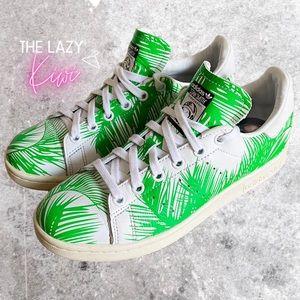 ADIDAS Stan Smith Pharrell Palm Tree Green Sz 7